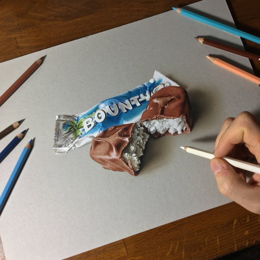 Drawing A Bounty By Marcellobarenghi Deviantart Com On Deviantart Realistic Drawings Color Pencil Drawing 3d Art Drawing