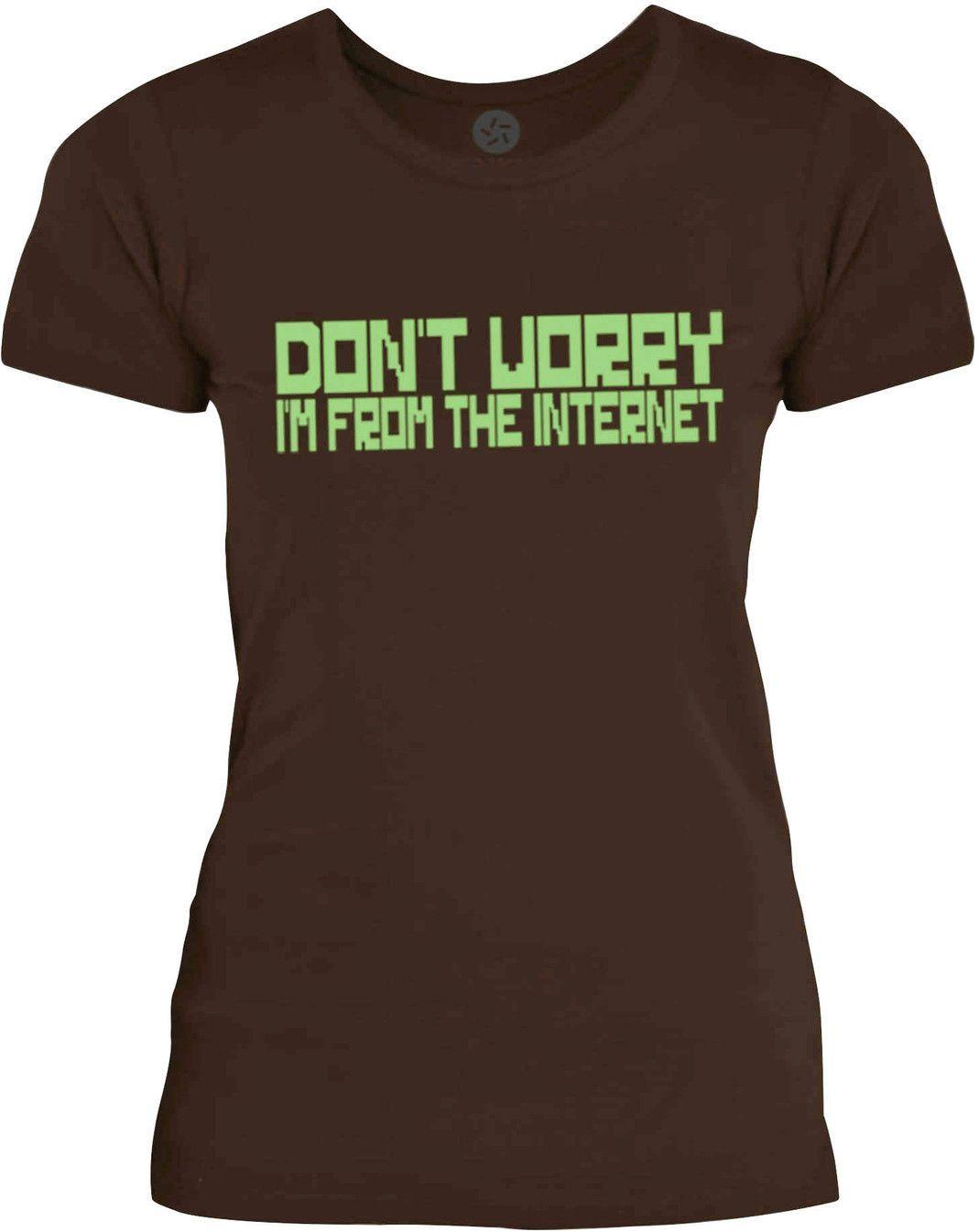 Big Texas Im From the Internet (Green) Womens Fine Jersey T-Shirt