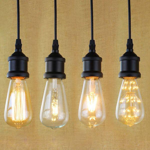 E27 light socket i shape vintage retro edison bulb pendant lamp e27 light socket i shape vintage retro edison bulb pendant lamp holder lampholder pendant mozeypictures Gallery