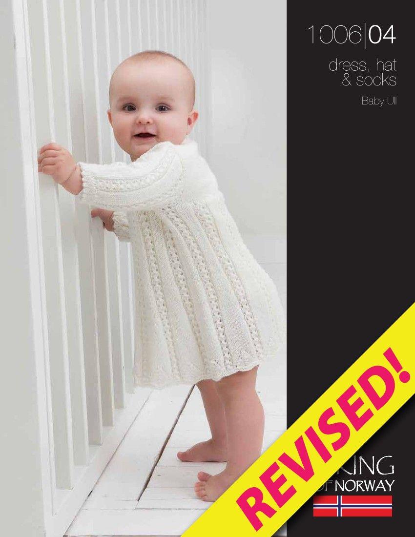 Baby Ull Dress, Hat & Socks – 1006-04 | Bebê | Pinterest