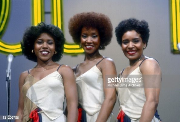 R and B group The Emotions pose for a portrait on the set of
