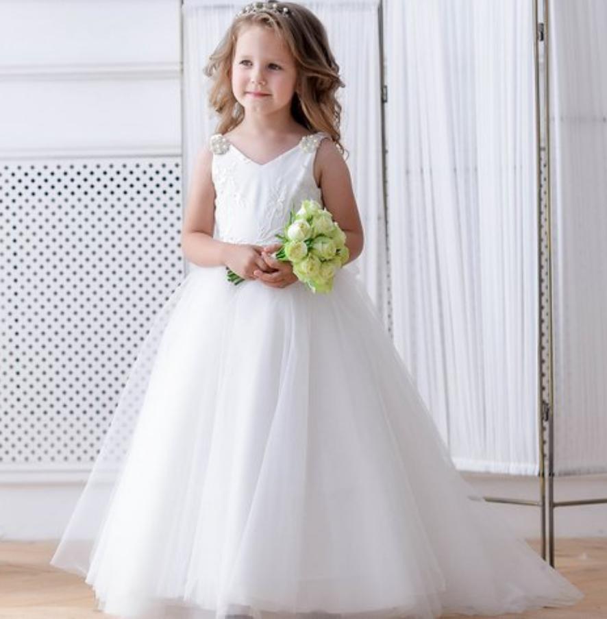 ac41e9194aca Lovely Flower G Princess White Flower Girl. Lovely Flower G Princess White Flower  Girl Junior Bridesmaid Dresses ...