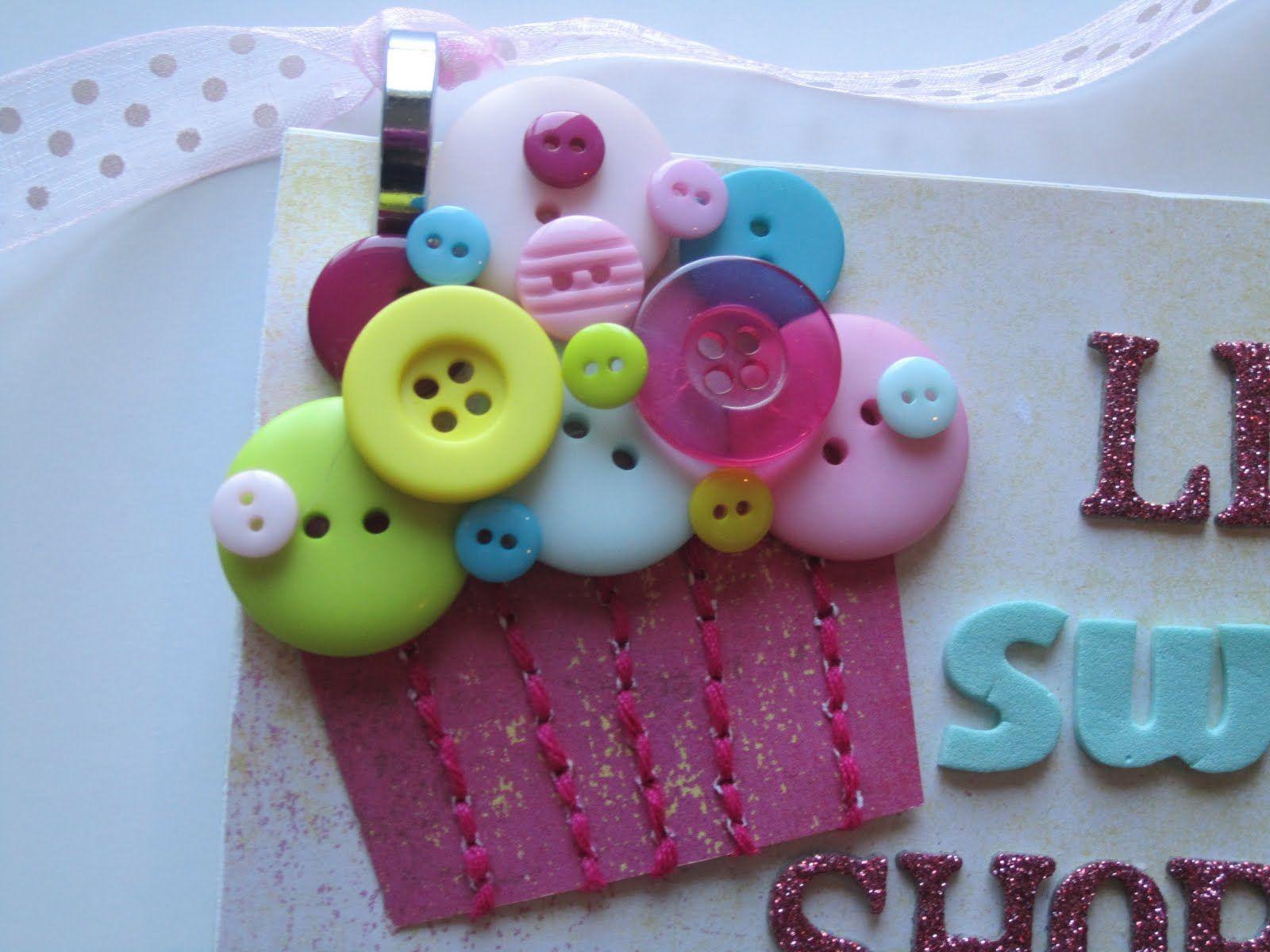 Cutesy Button Cupcake Love it!