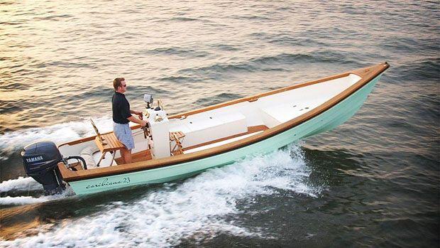 Caribiana 23-Foot Personal Luxury Sea Skiff | Products I Love | Pinterest | Boating, Wood boats ...