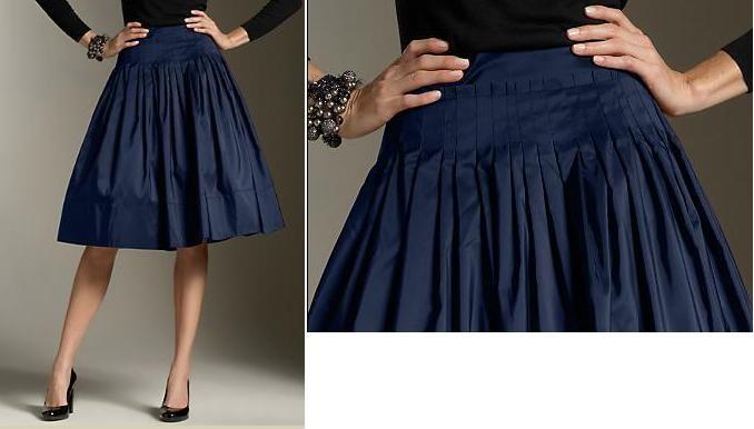 Pleated Taffeta Skirt from Talbots.