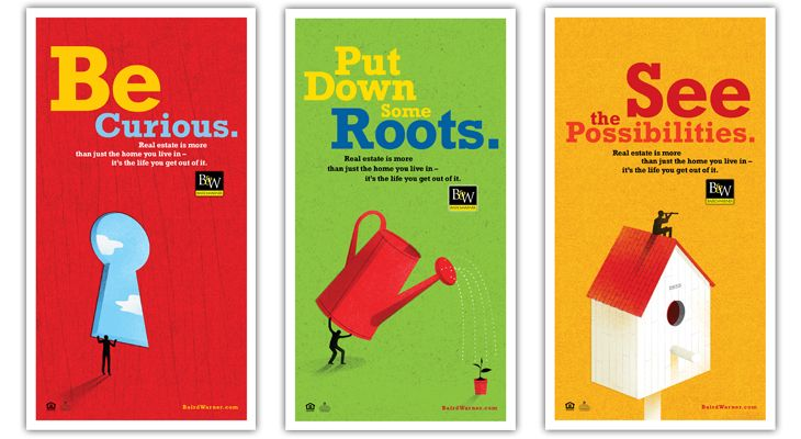 Beautiful Print Advertising For Baird Warner Real Estate 2012 Be Curious Campaign.