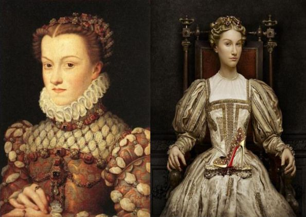 Francois Clouet – Elizabeth of Austria and the Leboutin version by Peter Lippman