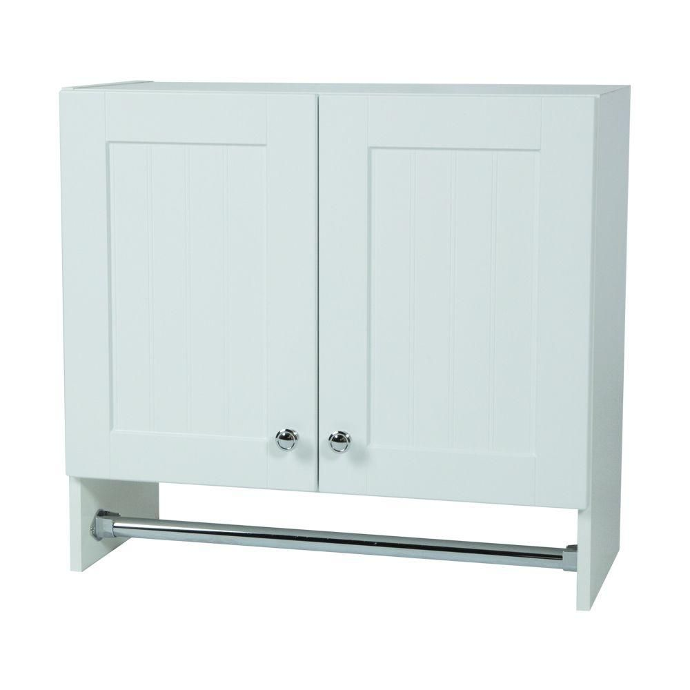 Laundry Wall Cabinet In Country White WC2725 WH At The Home Depot