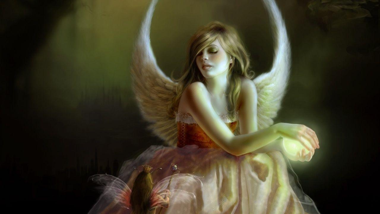 Beautiful Angels Wallpapers   Beautiful Angel Girl Art Wallpaper