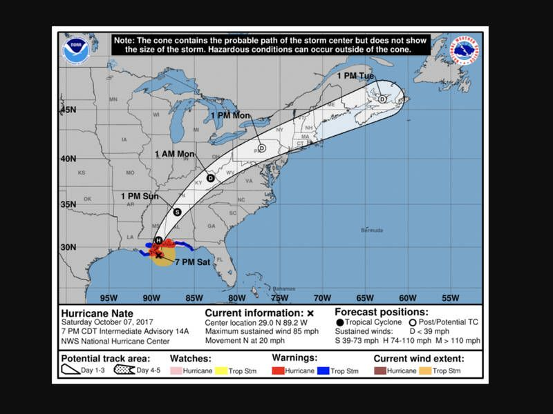 Hurricane Nate Makes Landfall What To Expect On Long Island