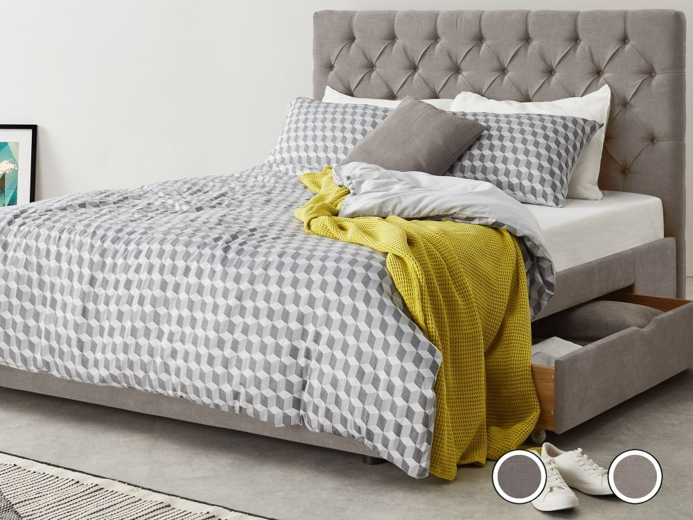 6a5f8a1670fa Skye Kingsize Bed with Storage Drawers, Owl Grey from Made.com. NEW Express  delivery. You spend a third of your life sleeping – spend it well with S..