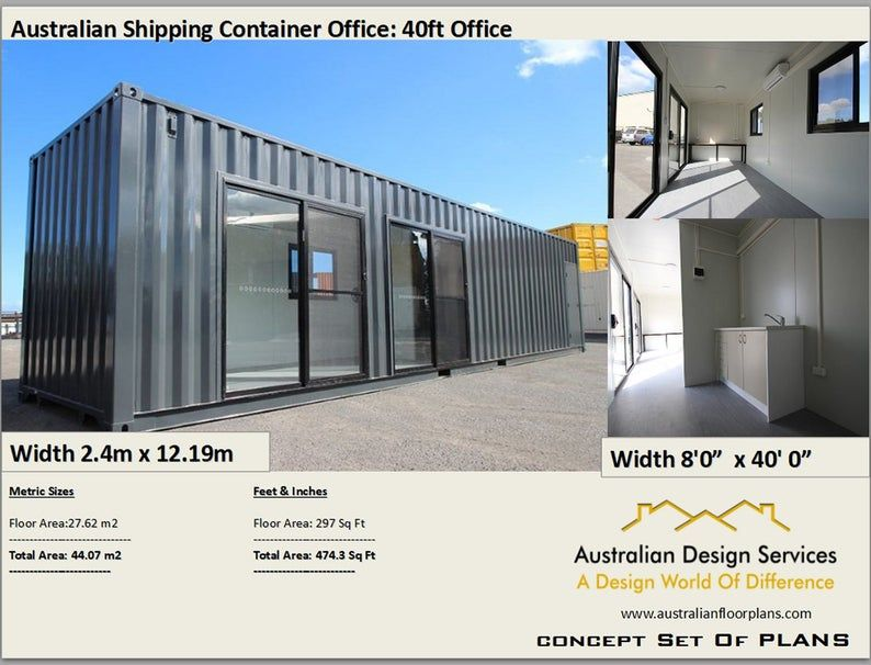 Transportable Office 40 Foot Shipping Container Office Etsy In 2020 Shipping Container Office Container House Shipping Container Homes