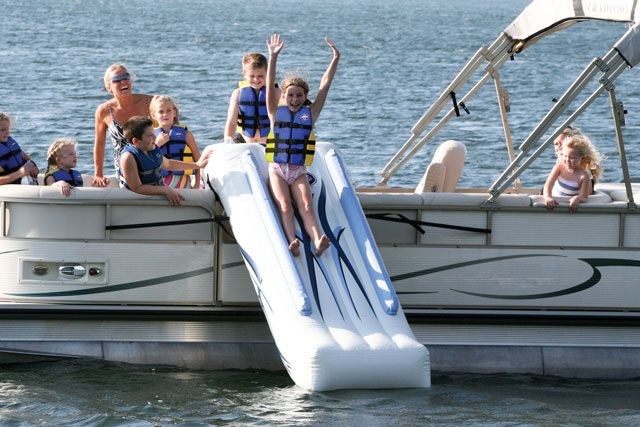 Image result for fun slide water boat