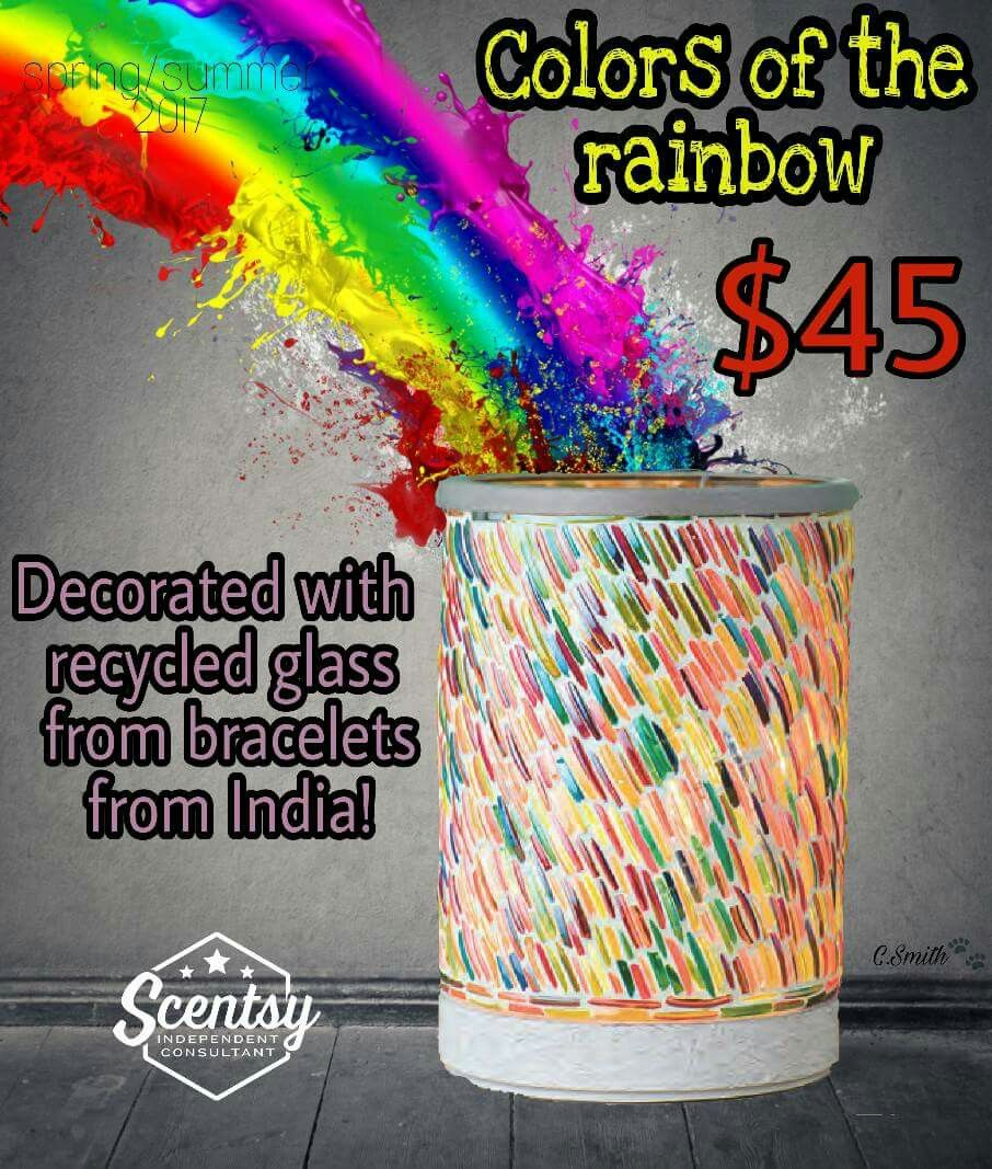 Colors Of The Rainbow Lampshade Warmer Make A Bright Choice Colors