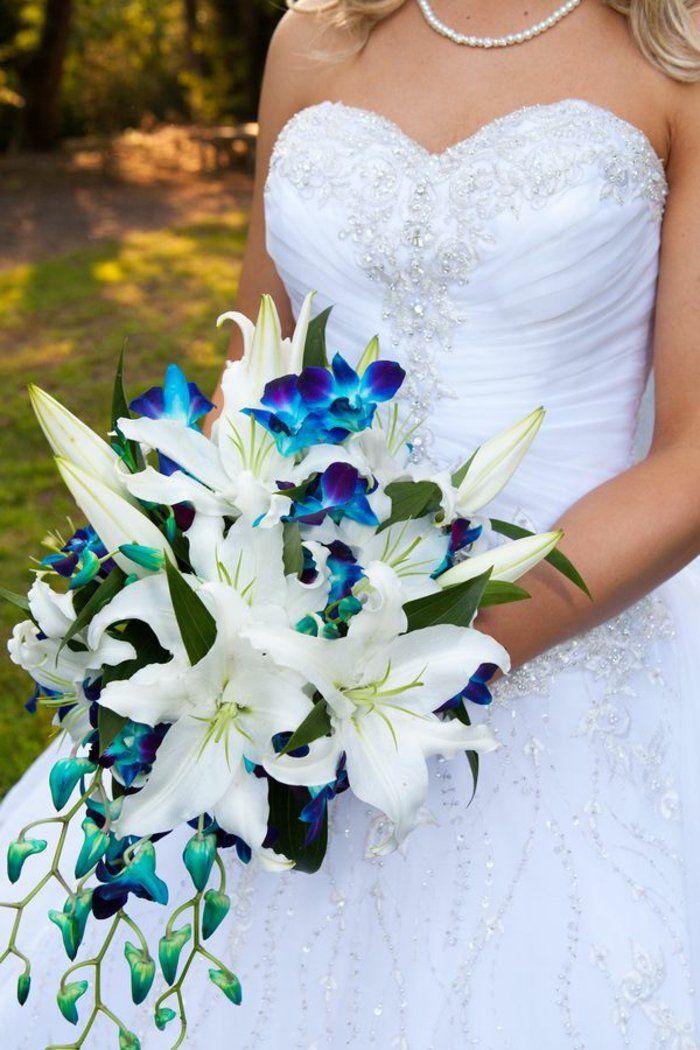 √ Bouquet De Mariée En Cascade Moderne