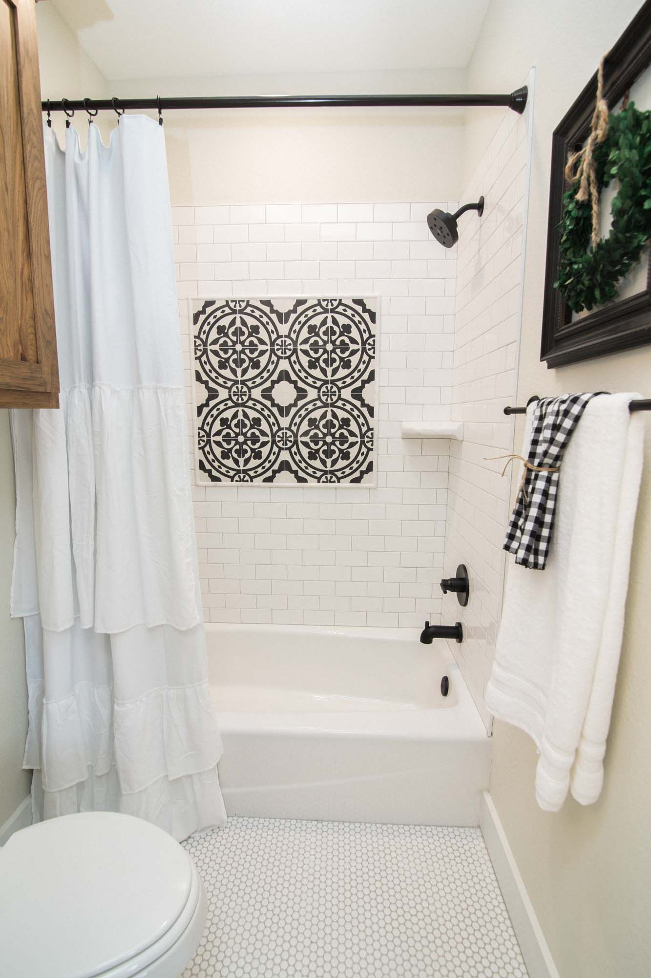 Accent Tile In The Shower