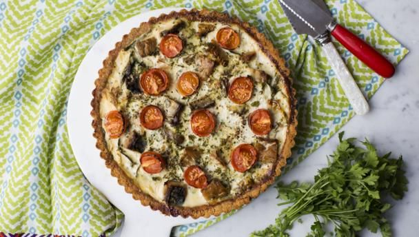 Smoked mackerel spinach and spring onion tart recipe onion tart bbc food recipes smoked mackerel spinach and spring onion tart forumfinder