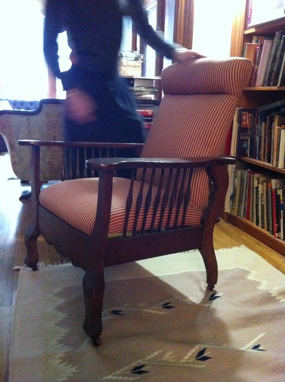 Antique Morris Chair With Upholstered Back U0026 Seat In Park Slope, Brooklyn,  NY, USA ~ Krrb