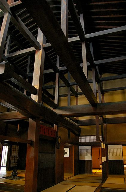 The wonderful wooden structure of Yoshijima house in Takayama. #gifu #jAPAN