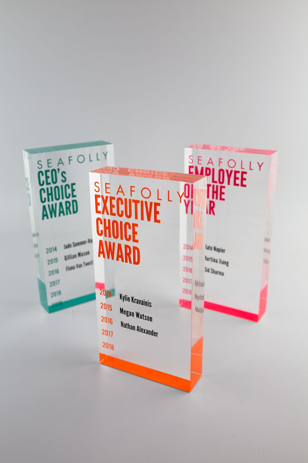 Seafolly Perpetual Trophies   Design Awards   #custommade #colorful #awards