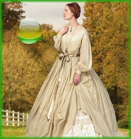 Historic Civil War Era Dress & Petticoat Patterns 16-24 | Kleider