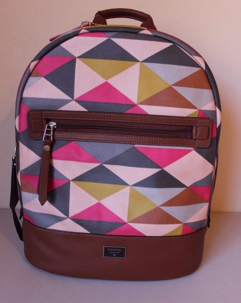 35e74d1fe316 Fossil Dawson Pink Multi Color Pattern Backpack  108 - Brand NEW  Fossil   Backpack