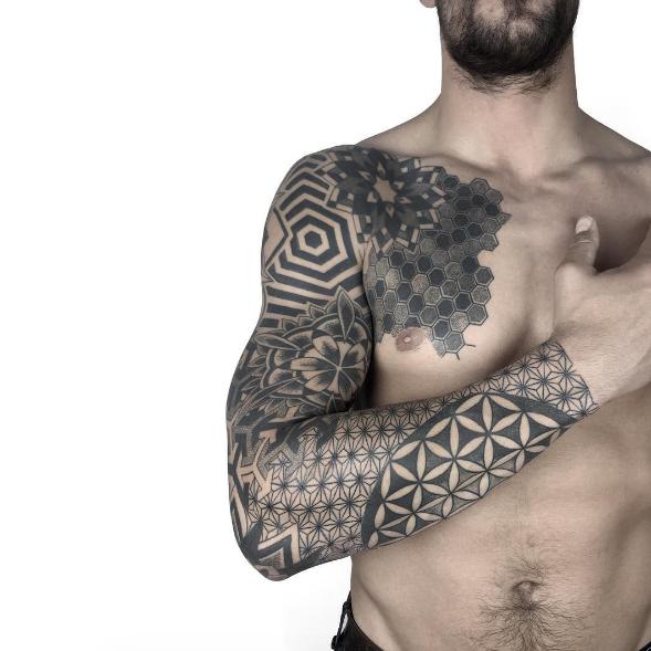 Geometric Sleeve by Ana Godoy