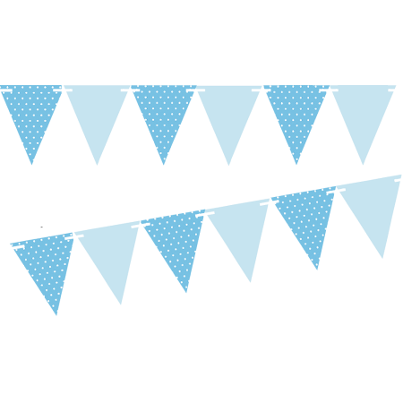 Light Blue Polka Dot Solid Light Blue 10ft Vintage Pennant Banner Paper Triangle Bunting Flags For Weddings Birthdays Pennant Banners Bunting Flags Pennant