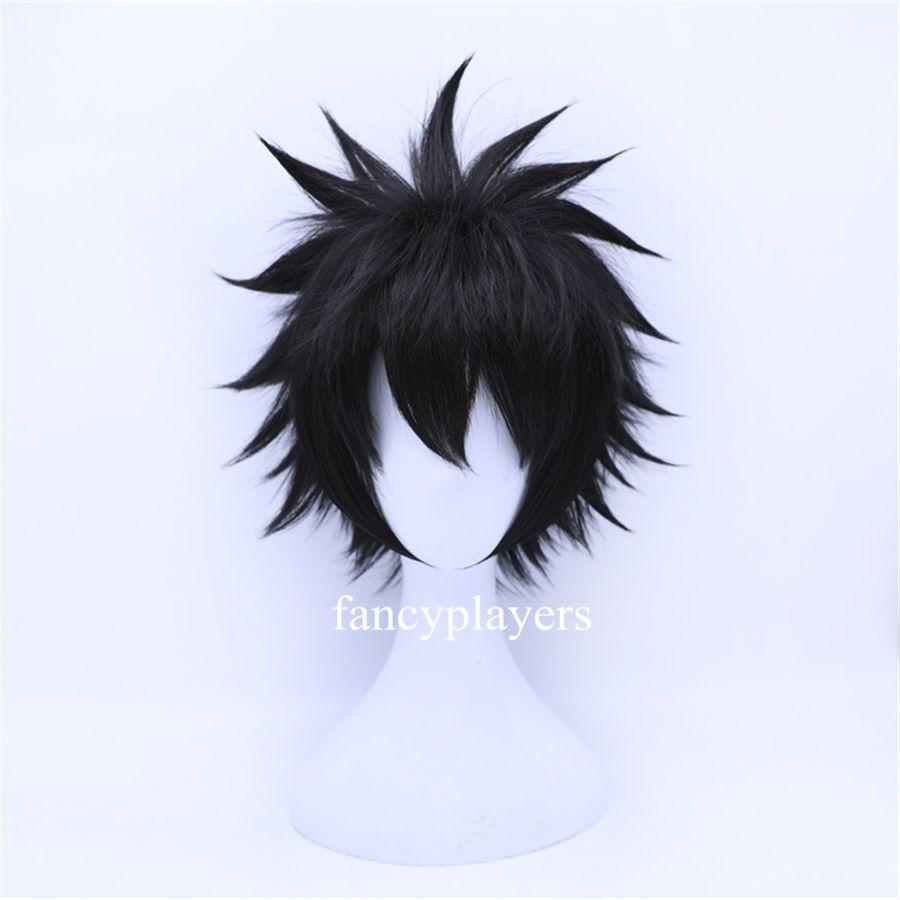 My Hero Academia Dabi Short Black Fluffy Boy Male Anime Halloween Cosplay Wigs Short Black Fluffy Cosplay Wigs Black Hair Wigs Wigs