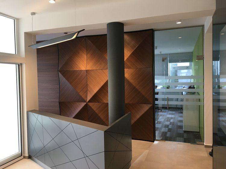 3d Wandpaneele Wandverkleidung Holz Dunkel Geometrisches Muster