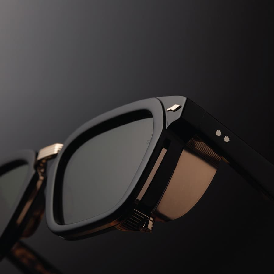 47c399f3b3 The  BorodinoNoir features a powerful rectangular frame with high vintage  volume… Find this Pin and more on Eyewear ...