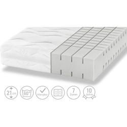 Artone 7-zone Ortho-cel® cold foam core mattress Dream B Ks ¦ white ¦ Dimensions (cm): W: 140 H: 21 mattress