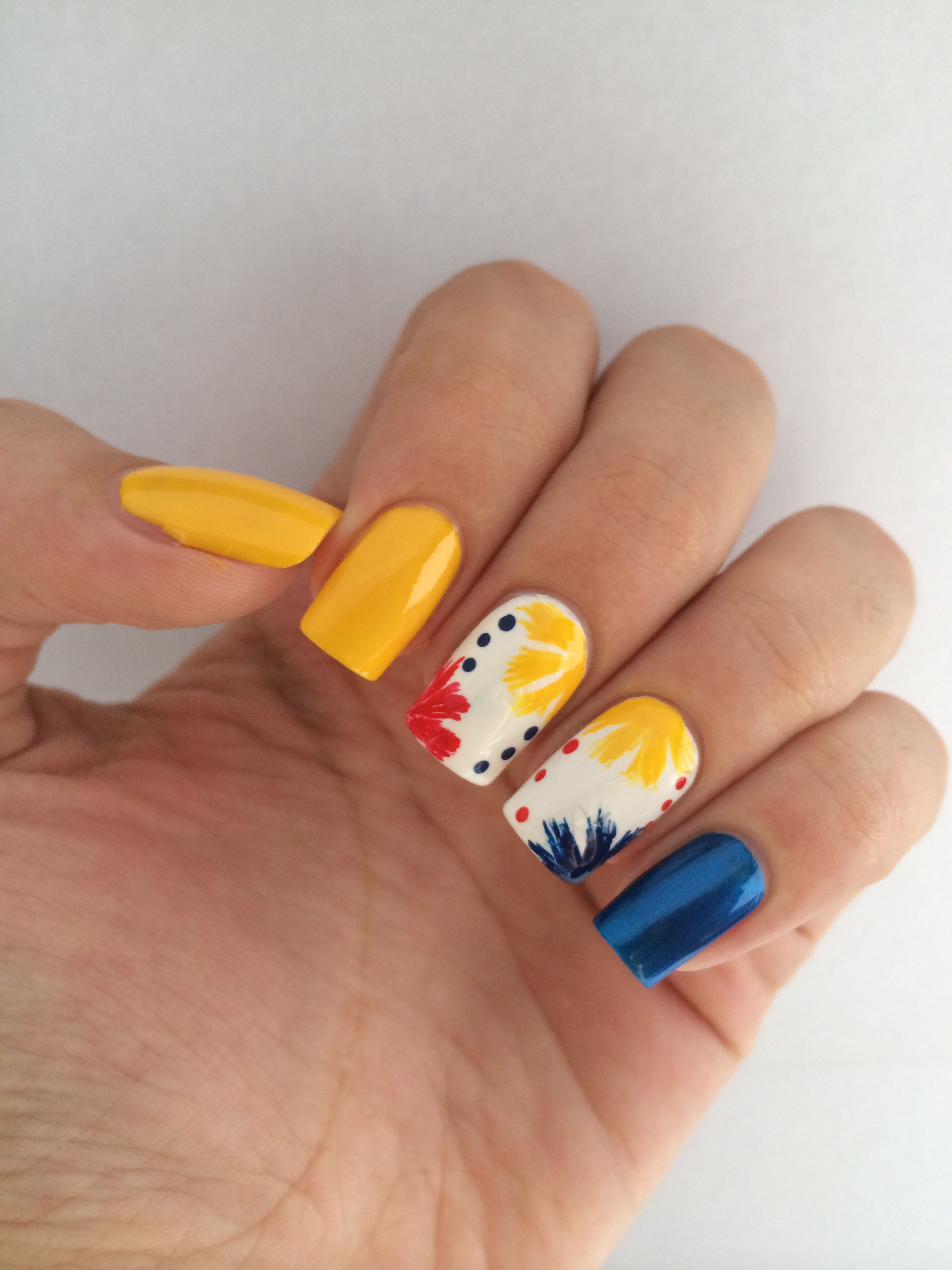 Colombia Fifa World Cup Uas Colombia Nails Nailart Nails