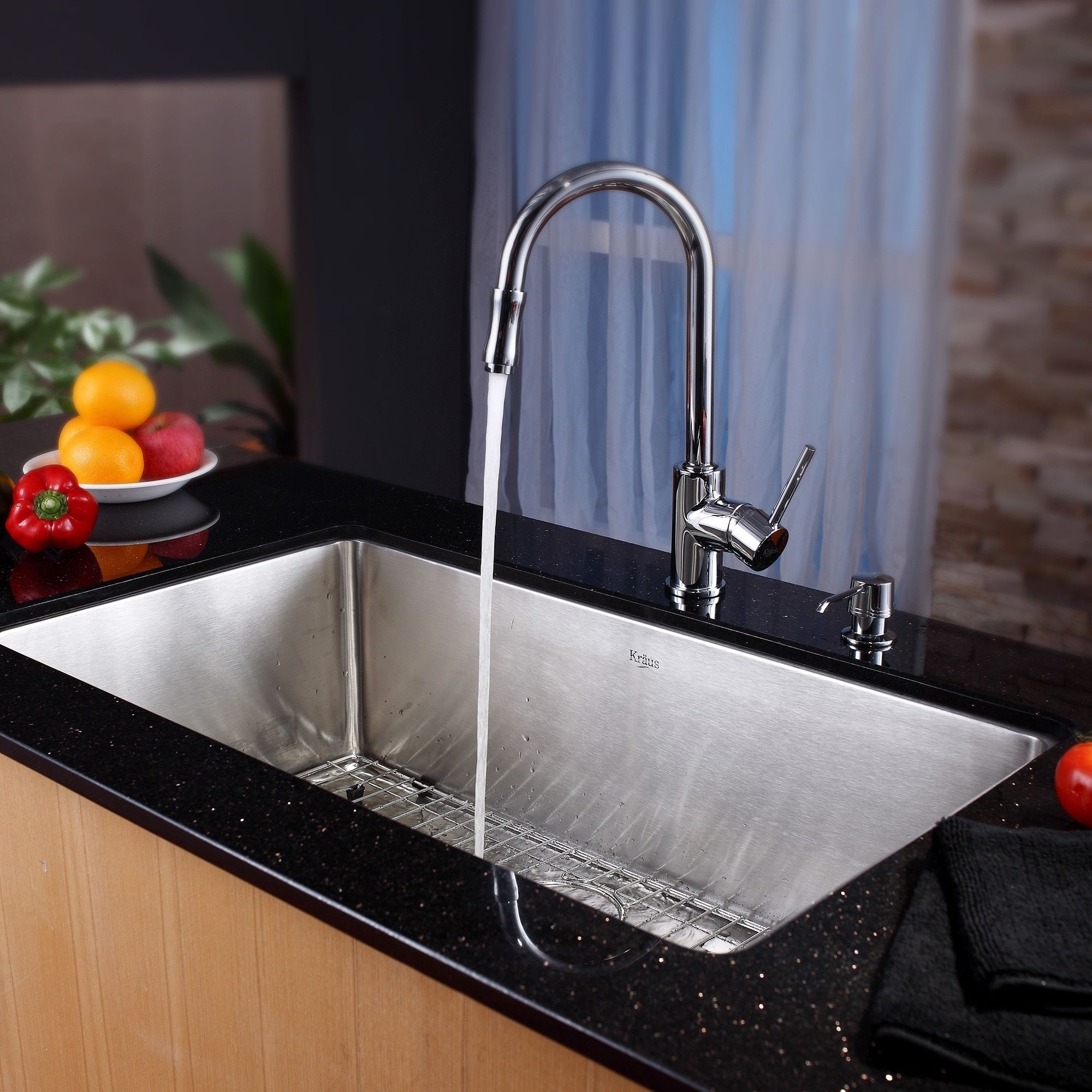 Kraus 32 Inch Undermount Single Bowl Stainless Steel Kitchen Sink ...