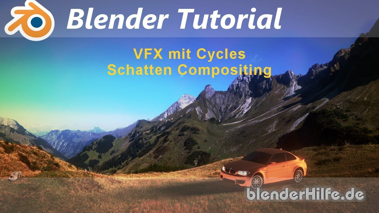 Blender 3D 2 7 Tutorial - Cycles - VFX Shadow Compositing