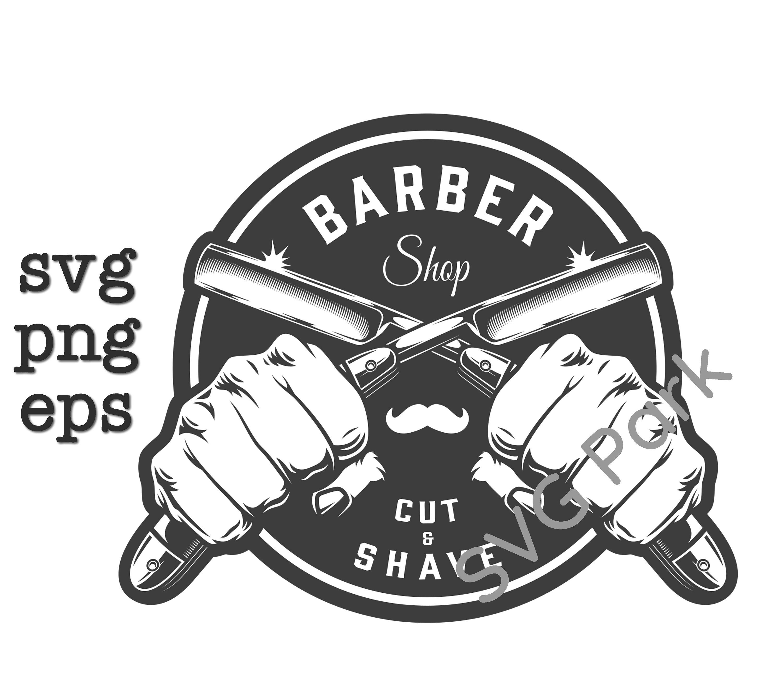 Barber Shop logo svg files png & eps   Etsy Gallery