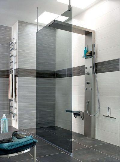 Cabine De Douche Douche à Litalienne Rangements Salle De Bains - Salle de bain italienne photos