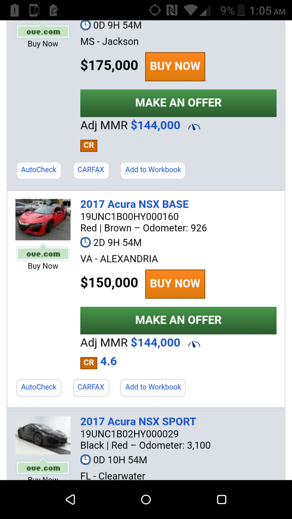 Carfax Discount Awesome Updated Jan 3rd socal Manheim