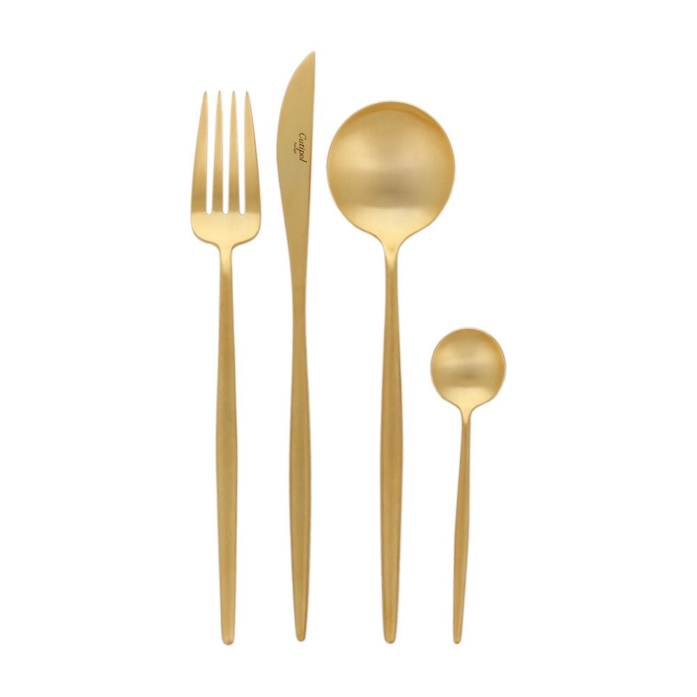 moon matt gold flatware set 24 piece cutlery set moon and gold. Black Bedroom Furniture Sets. Home Design Ideas