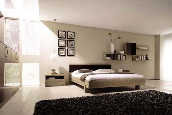 Minimalist Master Room Interior Design Photo
