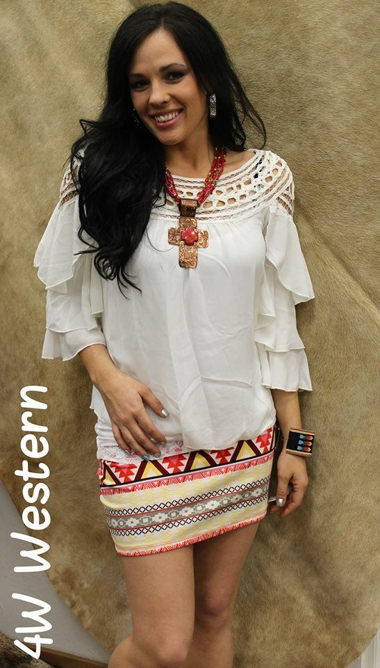Love shirt and necklace 4w western