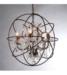Foucault S Orb Crystal Chandelier Rustic Iron Replica Antique