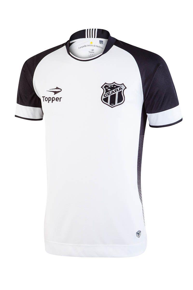 O segundo uniforme do Ceará tem como base a cor branca e detalhes em preto. 87954d921748b