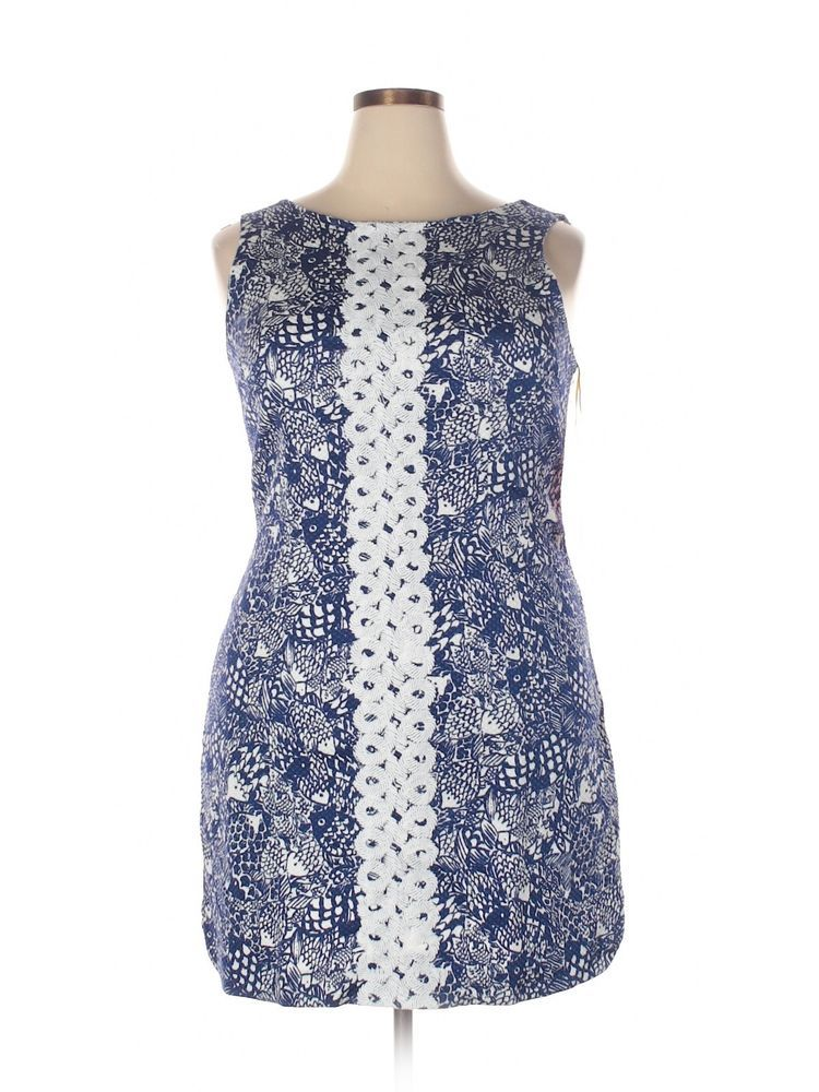 06e3ae11a0332b New Women Lilly Pulitzer For Target Navy Blue Upstream Fish Shift Dress  Size 18 #LillyPulitzerforTarget #Shift #SummerBeach