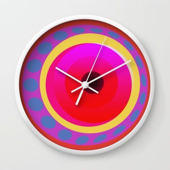 cool office clocks. Geometrical Circles Wall Clocks-Kitchen Clock-Cool Office Clock-Psychedelic Clock- Cool Clocks A