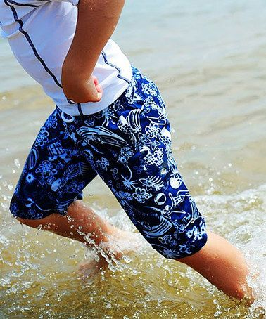 This Navy Pineapple Boardshorts - Toddler & Boys by Snapper Rock is perfect! #zulilyfinds