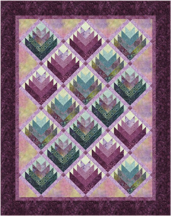Tonga Dahlia Log Cabin Flowers In 2020 Flower Quilt Patterns Flower Quilt Quilts