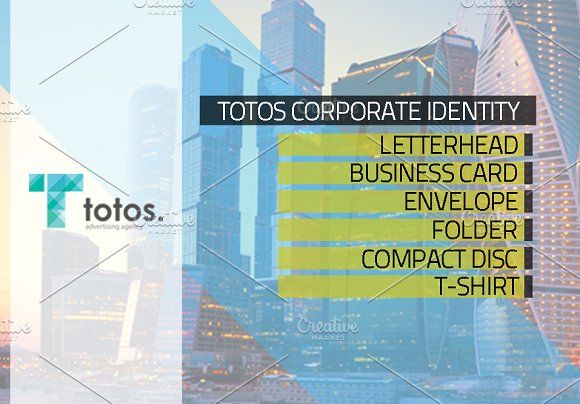 Totos Corporate Identity @creativework247 Stationery Design