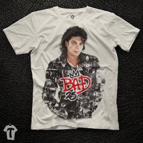 6e6d8c980 Michael Jackson Bad 25 Unisex White T Shirt Graphic Tee Michael Jackson Men  Shirt Michael Jackson Girl Shirt Size S M L XL 2XL by TISORD on Etsy