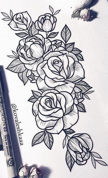 25 Beautiful Flower Drawing Information Ideas Beautiful Drawing Flower Ideas Informat Rose Tattoos Tattoos Sleeve Tattoos